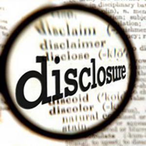 Filing Information Disclosure Statement
